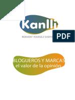 20120322_Kanlli Blogueros y Marcas Valor de La Opinion