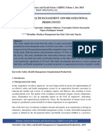 Safety and Health Management and Organizational Productivity