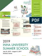 2019 Inha Summer School Poster Details