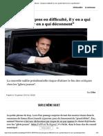 """Macron - """"Les gens en difficulté, il y ... font bien et il y en a qui déconnent"""""""