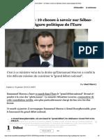 """""""Grand débat"""" - 10 choses à savoir sur ...en Lecornu, figure politique de l'Eure"""