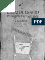 Libro del erario de la Iglesia 1723-1819