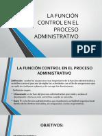 La Funci n Control en El Proceso Administrativo1