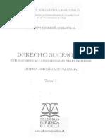 Derecho Sucesorio Tomo I
