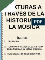 La Textura a Travc3a9s de La Historia
