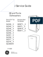 Ge Dishwasher Gld Gdw Ghdt Gdwt Pdwt Glc Service Manual