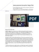 UV Recibió Biblioteca Personal Del Escritor Sergio Pitol