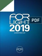 201901 Forlight Tarifa España 2019
