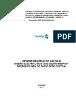 Paf-ju-o-049-2018 i.e Luis Delfin Electrico Memoria de Cálculo-Inem