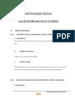 01.00 Especificaciones tecnicas desague