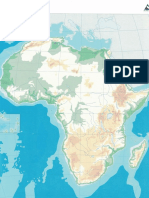 Mapa físico África mudo