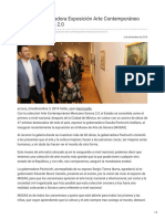 03-12-2018 Inaugura Gobernadora Exposición Arte Contemporáneo Mexicano Sonora 2.0 - La5