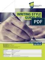 Writing Style Guideline
