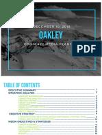 Oakley Media Plan Case Study