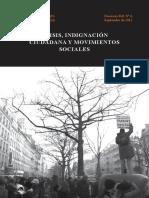 Crisis, Indignación Ciudadana y Movimientos Sociales