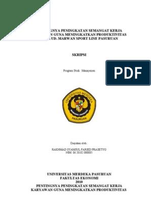 Proposal Penelitian Msdm Doc Gambaran