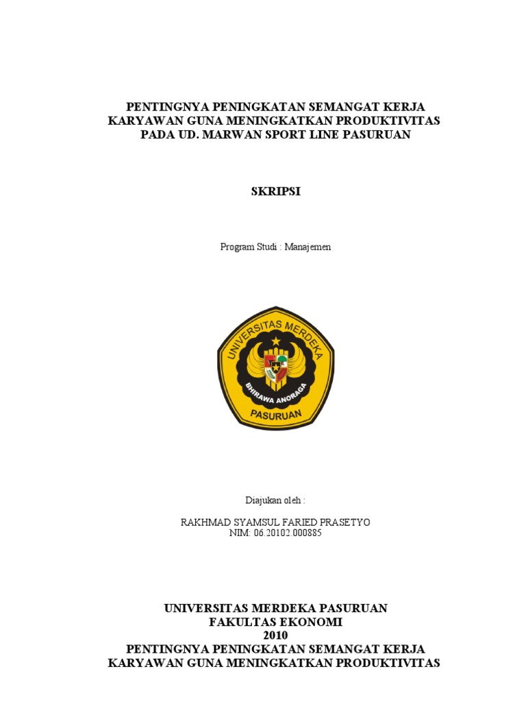 Proposal Skripsi Manajemen Sumber Daya Manusia Tentang Kepemimpinan Pigura