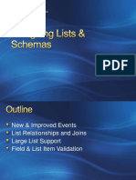 List and Schemas