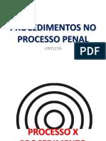 PROCEDIMENTOS NO PROCESSO PENAL.pptx