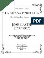 Tonadilla LA GITANA POBRECITA (JOSÉ CASTEL, 1737-1807). Fernando Abaunza