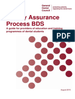 QA Process for BDS Providers (2015)