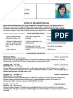 System Administrator - Sample CV