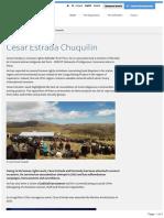 Relator Especial de Las Naciones Unidas - Cesar Estrada