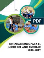 Orientaciones Para Los Docentes Inicio Año Escolar 2018-2019 (Final)