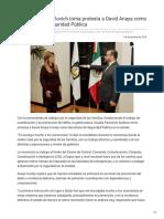 07-12-2018 Gobernadora Pavlovich toma protesta a David Anaya como Secretario de Seguridad Pública - CanalSonora