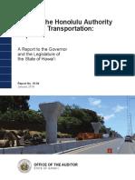 Audit of the Honolulu rail project