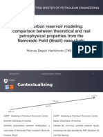 Hydrocarbon Reservoir Modeling Comparison Between Theoretical and Real Petrophysical Properties From the Namorado Field (Brazil) Case Study