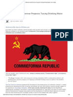 California's New Governor Proposes Taxing Drinking Water