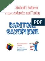 Intonation Workbook for Baritone Saxophone