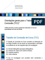 Orientações de TCC para o Curso de Ensino de Filosofia UFPEL