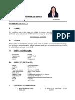 Curriculum Vitae - Ing. Geraldine Milagros Morales Torres 2018