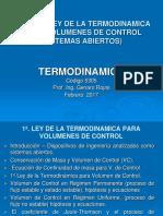 6a. Clase - 1a.  ley de la termodinamica para Volumen de Control.ppt