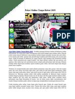 Agen Poker Online Tanpa Robot 2019