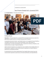 06-12-2018 Entrega Gobernadora Premio Estatal de La Juventud 2018 - Uniradio Noticias