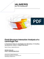 Fluid-Structure Interaction Analysis of a Centrifugal Fan