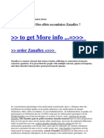 Afin Zanaflex and Des Effets Secondaires Zanaflex