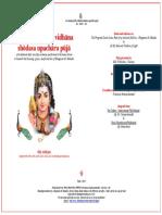 Sri Skanda Jyothi Vidhana Shodasa Upachara Puja