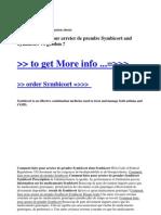 Comment Faire Pour Arreter de Prendre Symbicort and Symbicort vs Geodon