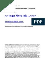 Des Effets Antidepresseurs Xalatan and Utilisation de Xalatan