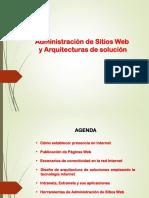 Administración de Sitios Web y Arquitecturas de solución