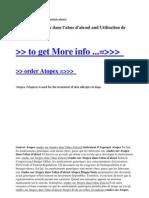 Etudes Sur Atopex Dans l'Abus d'Alcool and Utilisation de Atopex