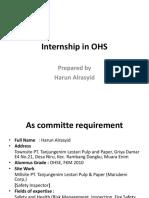 Internship in OHS (Alrasyid, 2018)