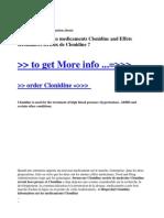 Information Sur Les Medicaments Clonidine and Effets Secondaires Serieux de Clonidine