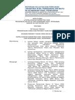 SK Kepala Badan Tentang Petunjuk Teknis Pemantauan HPIK