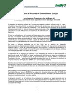 Perfil de Proyecto Biogás Del Vertedero Zona 3 150206