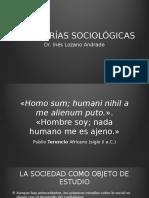 LAS TEORÍAS SOCIOLÓGICAS